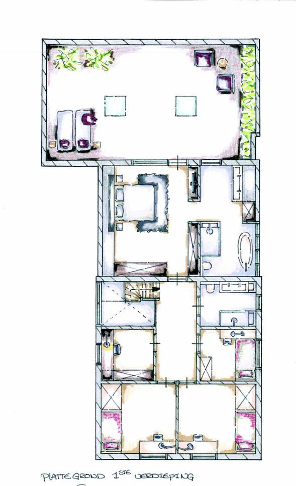 Fam Dekker plattegrond 1e verdieping